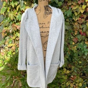 LOFT Hooded Sweatshirt/Cardigan, L